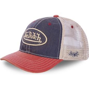 Von Dutch MAC2 Navy Blue, White and Red Trucker Hat