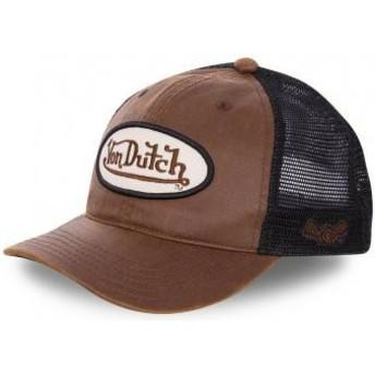 Von Dutch PETE Brown and Black Trucker Hat