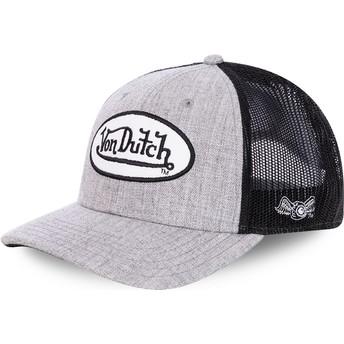 Von Dutch TERRY Grey and Black Trucker Hat