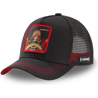Capslab Space Pirate Captain Harlock ALB CPT Black Trucker Hat