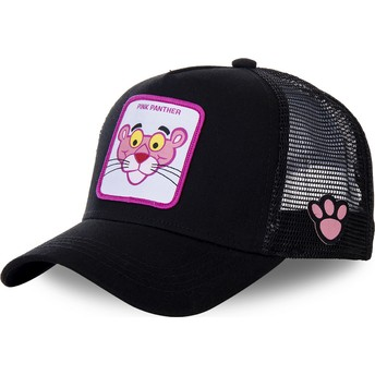 Capslab Youth Pink Panther KID_PANT7 Black Trucker Hat