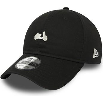 New Era Curved Brim 9TWENTY Vespa Black Adjustable Cap