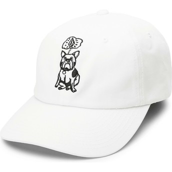 Volcom Curved Brim White Stone Wonder White Adjustable Cap