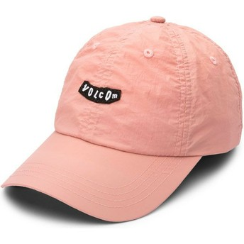Volcom Curved Brim Petal Pink Stop And Pink Pink Adjustable Cap