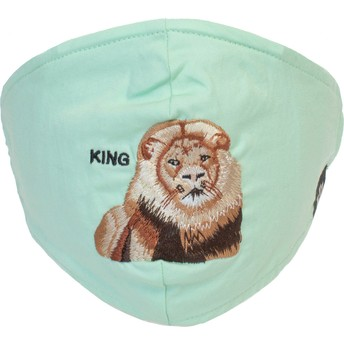Goorin Bros. Lion Mane Cat Mint Green Reusable Face Mask
