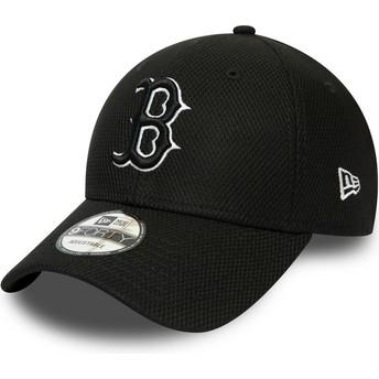New Era Curved Brim 9FORTY Diamond Era Essential Boston Red Sox MLB Black Adjustable Cap