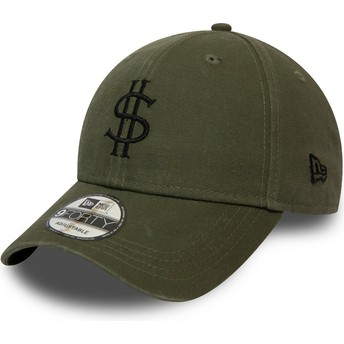New Era Curved Brim 9FORTY Dollar Pack Green Adjustable Cap