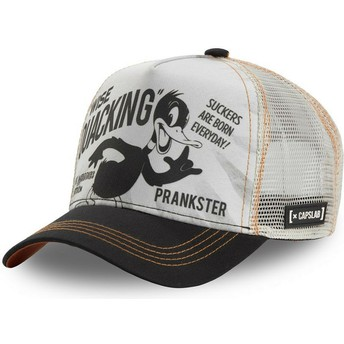 Capslab Daffy Duck LOO DUC1 Looney Tunes White and Black Trucker Hat