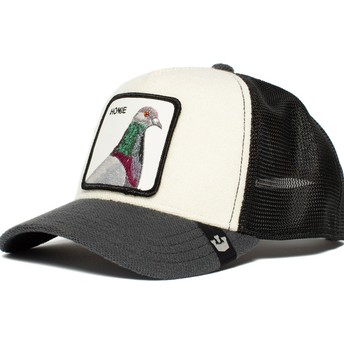 Goorin Bros. Homie Pigeon White, Grey and Black Trucker Hat