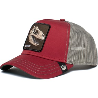 Goorin Bros. Dinosaur T-Rex Extinct Red and Grey Trucker Hat