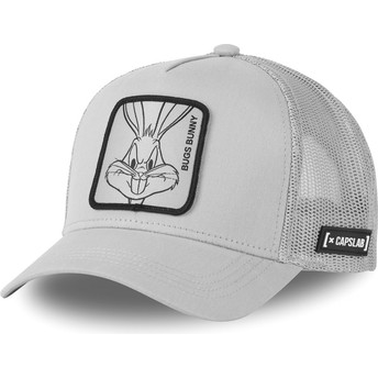 Capslab Bugs Bunny LOO4 BUG1 Looney Tunes Grey Trucker Hat