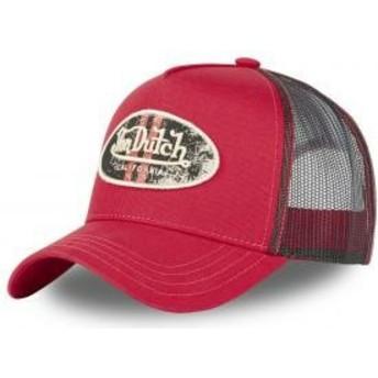 Von Dutch LOG R Red Trucker Hat