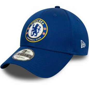 New Era Curved Brim 9FORTY Chelsea Football Club Blue Snapback Cap