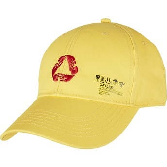 Cayler & Sons Curved Brim Iconic Peace Yellow Adjustable Cap