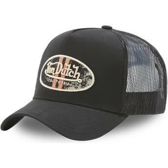 Von Dutch LOG NO Black Trucker Hat