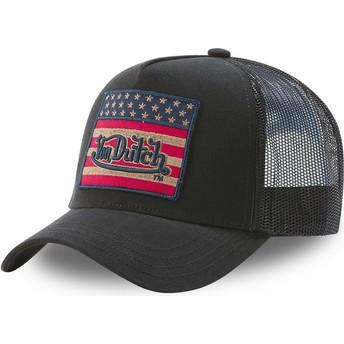 Von Dutch FLAG NR Black Trucker Hat