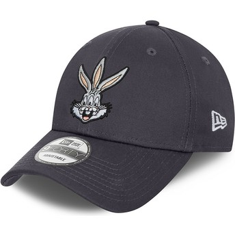 New Era Curved Brim 9FORTY Bugs Bunny Looney Tunes Grey Adjustable Cap
