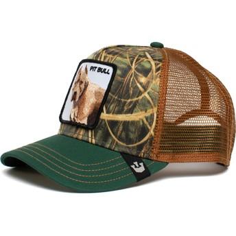 Goorin Bros. Dog Pitbull The Farm Green and Brown Trucker Hat