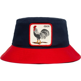 Goorin Bros. Rooster Cock Americana The Farm Navy Blue and Red Bucket Hat