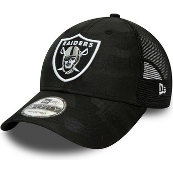 New Era Curved Brim 9FORTY Home Field Las Vegas Raiders NFL Camouflage and Black Adjustable Cap