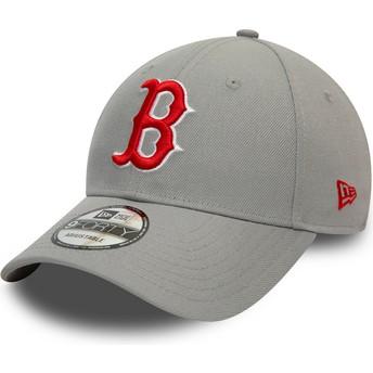 New Era Curved Brim 9FORTY REPREVE Pop Logo Boston Red Sox MLB Grey Snapback Cap