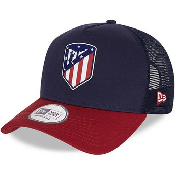 New Era Rubber Logo A Frame Atlético Madrid LFP Blue and Red Trucker Hat