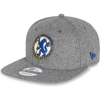 New Era Flat Brim 9FIFTY Low Profile Heritage Chelsea Football Club Grey Snapback Cap