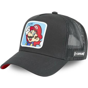 Capslab Mario CLA2 Super Mario Bros. Black Trucker Hat