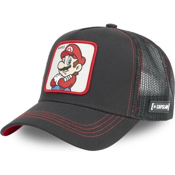 Capslab Mario SMB MAR2 Super Mario Bros. Black Trucker Hat