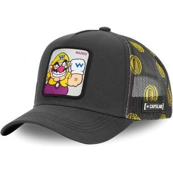 Capslab Wario WAR Super Mario Bros. Grey Trucker Hat