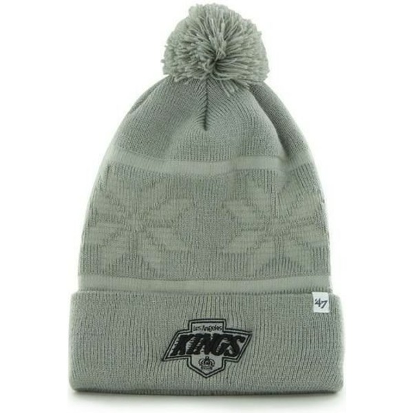 47-brand-los-angeles-kings-nhl-grey-beanie-with-pompom