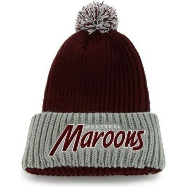 47-brand-montreal-maroons-nhl-red-beanie-with-pompom