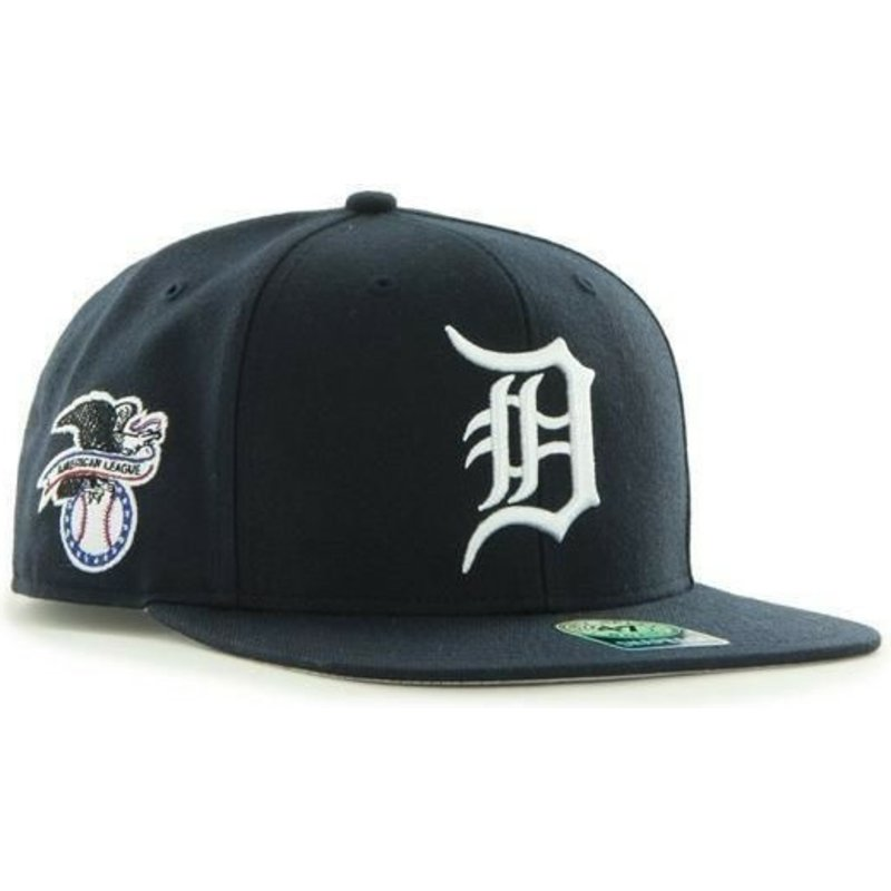 47-brand-flat-brim-detroit-tigers-mlb-sure-shot-black-snapback-cap