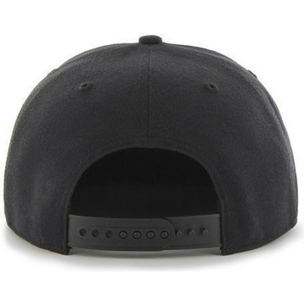 47-brand-flat-brim-black-logo-oakland-athletics-mlb-sure-shot-black-snapback-cap