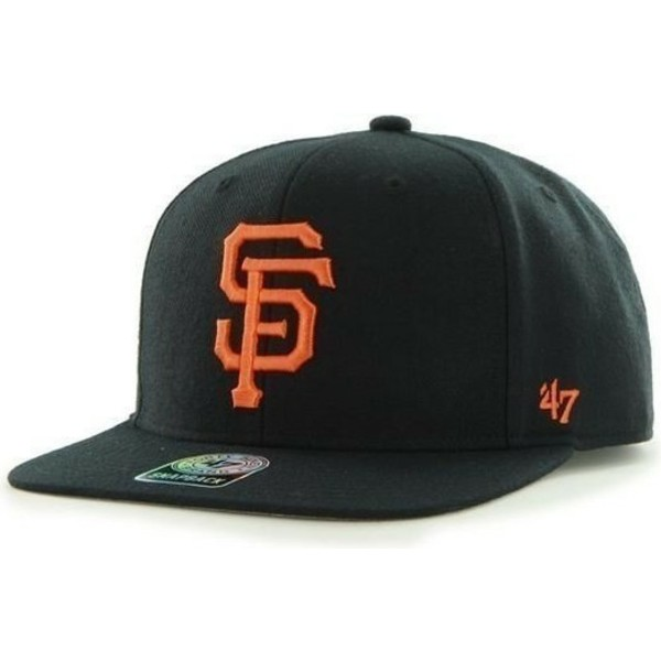 47-brand-flat-brim-san-francisco-giants-mlb-sure-shot-black-snapback-cap
