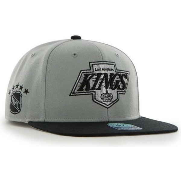 47-brand-flat-brim-los-angeles-kings-nhl-sure-shot-grey-snapback-cap