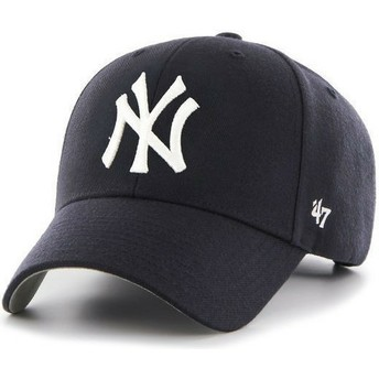 47 Brand Curved Brim New York Yankees MLB Navy Blue Cap