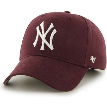 47 Brand Curved Brim New York Yankees MLB Maroon Cap