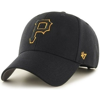 47 Brand Curved Brim Pittsburgh Pirates MLB Black Cap