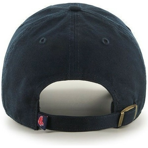 47-brand-curved-brim-boston-red-sox-mlb-clean-up-navy-blue-cap