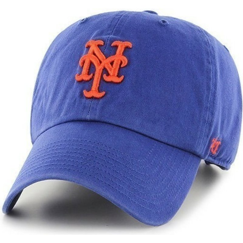 47-brand-curved-brim-new-york-mets-mlb-clean-up-blue-cap