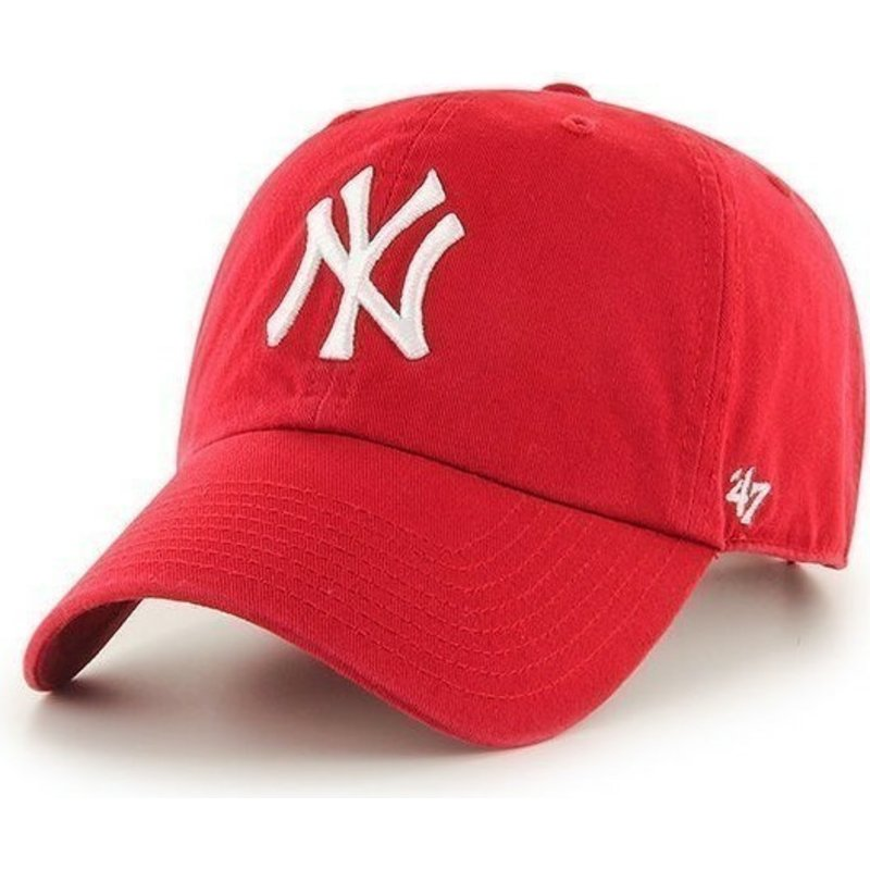 47-brand-curved-brim-new-york-yankees-mlb-clean-up-red-cap
