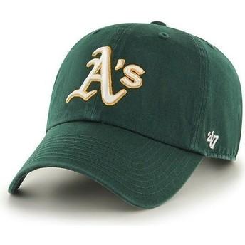 47 Brand Curved Brim Oakland Athletics MLB Clean Up Green Cap