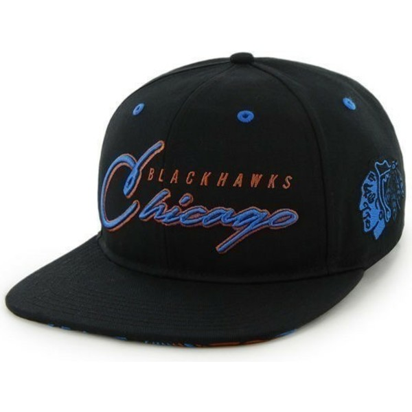 47-brand-flat-brim-blue-logoscript-logo-chicago-blackhawks-nhl-black-snapback-cap