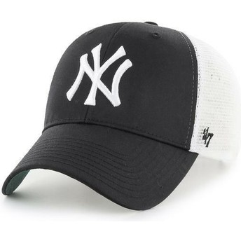 47 Brand MLB New York Yankees Black Trucker Hat