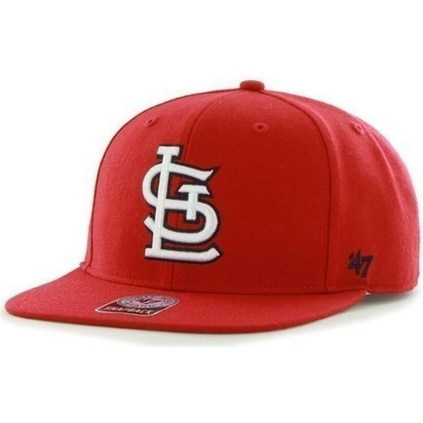 47-brand-flat-brim-side-logo-mlb-saint-louis-cardinals-smooth-red-snapback-cap
