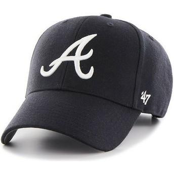 47 Brand Curved Brim MLB Atlanta Braves Smooth Navy Blue Cap