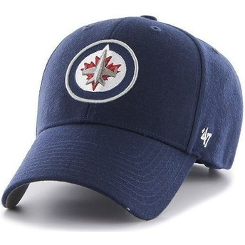47 Brand Curved Brim NHL Winnipeg Jets Navy Blue Cap