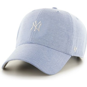 47 Brand Curved Brim Small Logo MLB New York Yankees Blue Cap