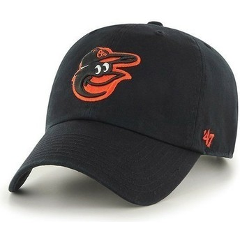 47 Brand Curved Brim Front Logo MLB Baltimore Orioles Black Cap
